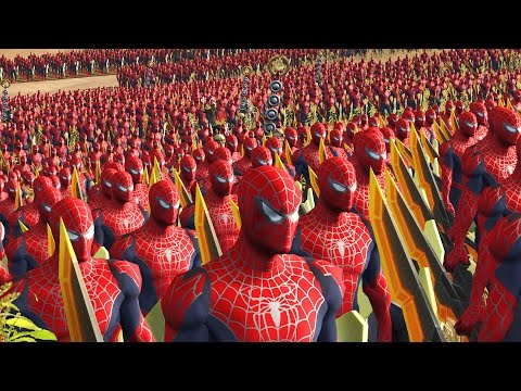4000 SPIDERMAN AVENGER VS 4000 SPIDERMAN - MASSIVE SUPERHEROES BATTLE