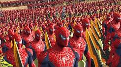 4000 SPIDERMAN AVENGER VS 4000 SPIDERMAN - MASSIVE SUPERHEROES BATTLE