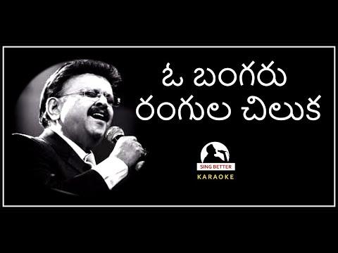 O Bangaru Rangula Chilaka Telugu Karaoke full song with lyrics