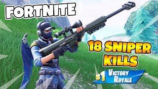 18 SNIPER-KILLS I FORTNITE *Solo VS Squads* One Shot LTM