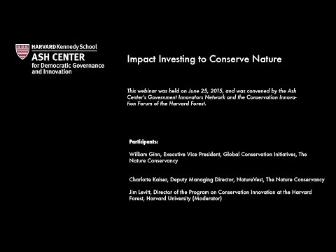 Impact Investing to Conserve Nature