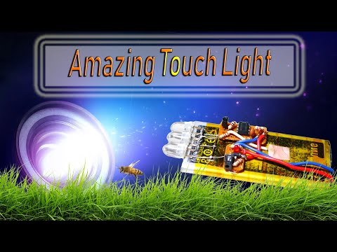 How To Make Touch Light || Homemade Torch Light || Electronics Project || Simple Project || 2020