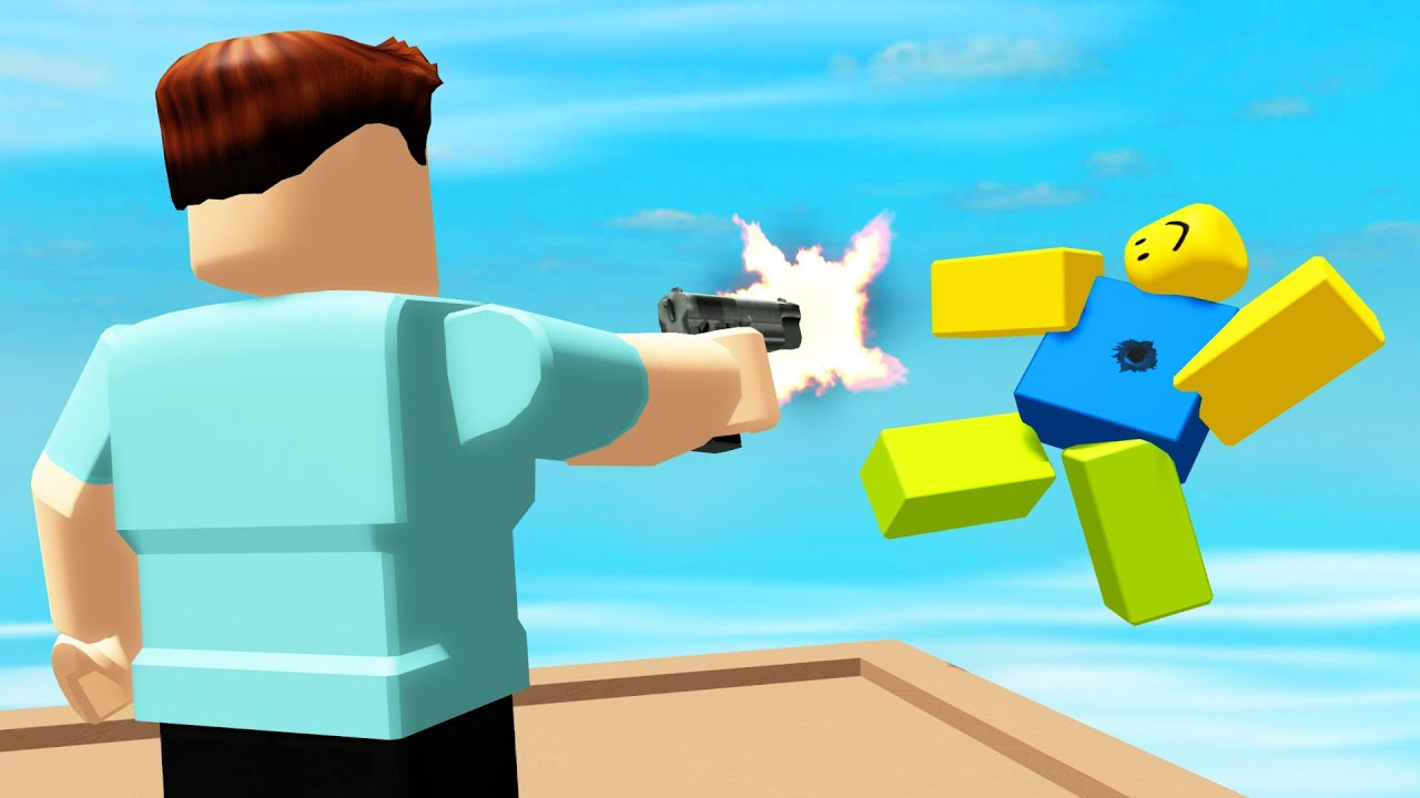 Shooting Ragdoll Noobs Off The Tallest Tower In Roblox Youtube