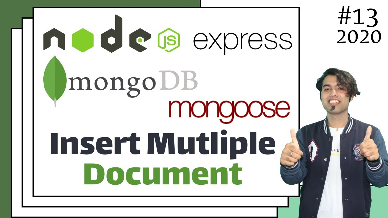How to Insert Multiple Documents using One Line in Mongoose