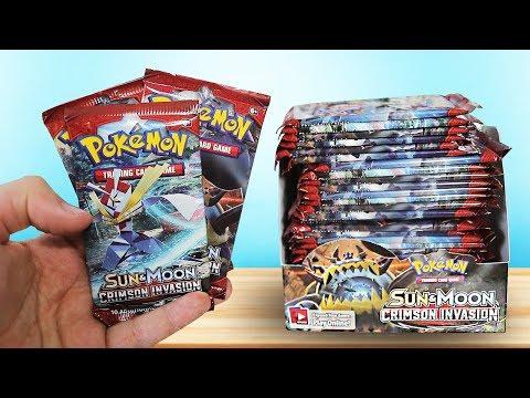 Opening a Pokemon Crimson Invasion Booster Box!