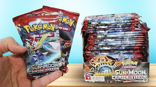 Opening a Pokemon Crimson Invasion Booster Box!