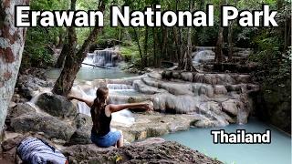 Viel Bla bla im Erawan National Park Thailand