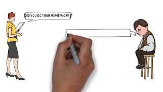 conversación entre el estudiante y el profesor (Animación de Vídeo)