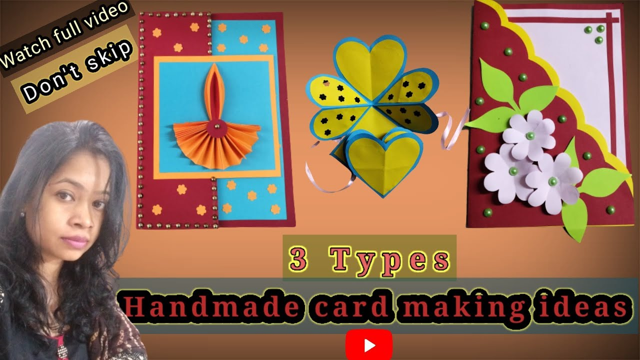 diffrent types hadmade card making ideascard making