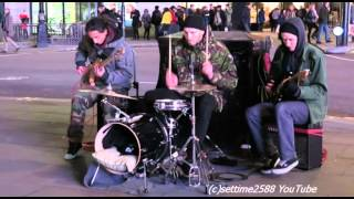 Street Band Playing Great Music in Piccadilly Circus, London,