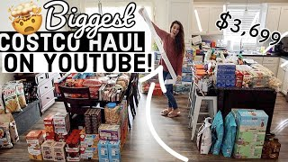 🤯 ENORMOUS $3,699 COSTCO HAUL! Large Family Grocery Haul 6 MONTH Stock Up