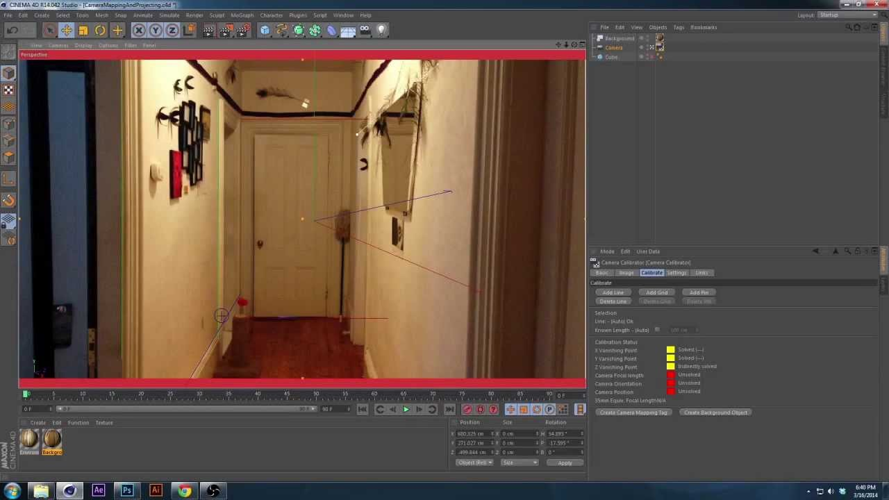 Tutorial : C4D Camera Mapping and Camera Projection