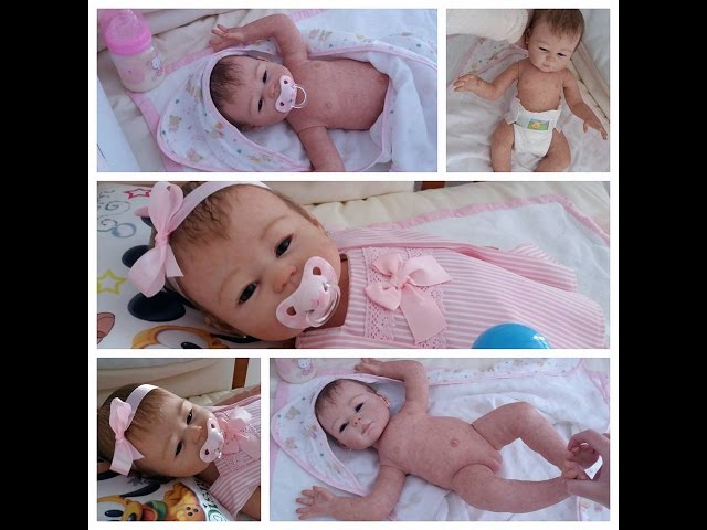 Reborn baby Carmela of Sheila Michael full body vinyl//cuerpo completo vinilo by Chiquitines Reborns