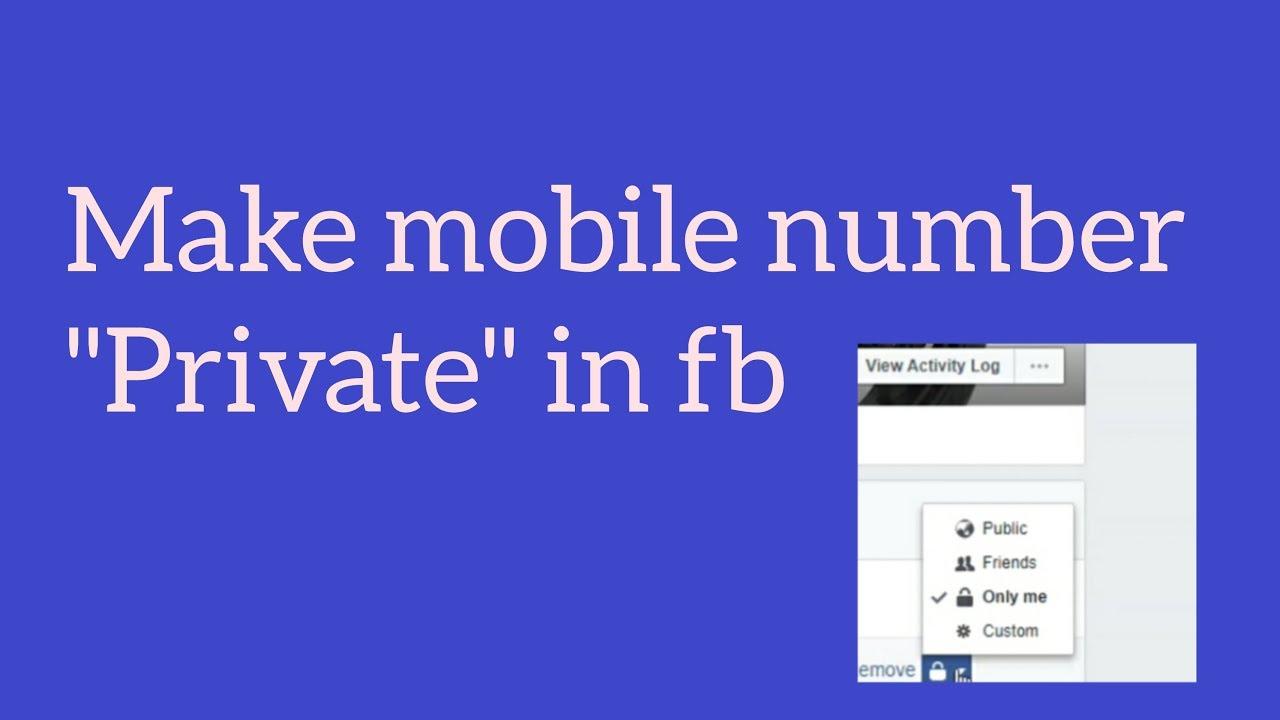 Facebook : Make mobile number private in fb || Ravi tech views