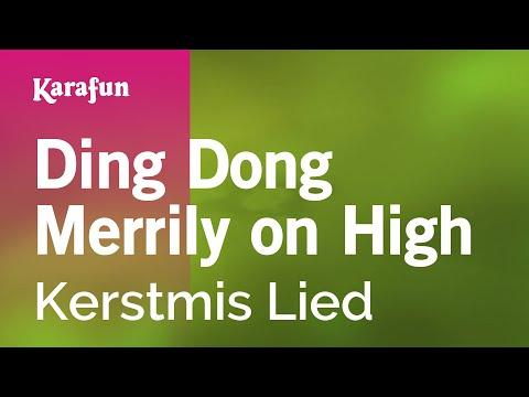 Karaoke Ding Dong Merrily on High - Christmas Carol *