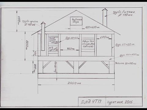 Как построить курятник чертежи