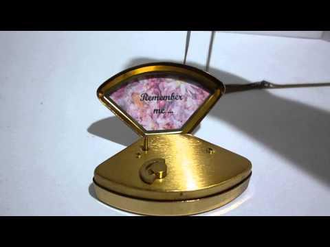 VINTAGE MINIATURE MUSIC BOX PENDANT NECKLACE