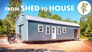 Family of 6 Living in a SHED Converted Into a Tiny Home & Homesteading