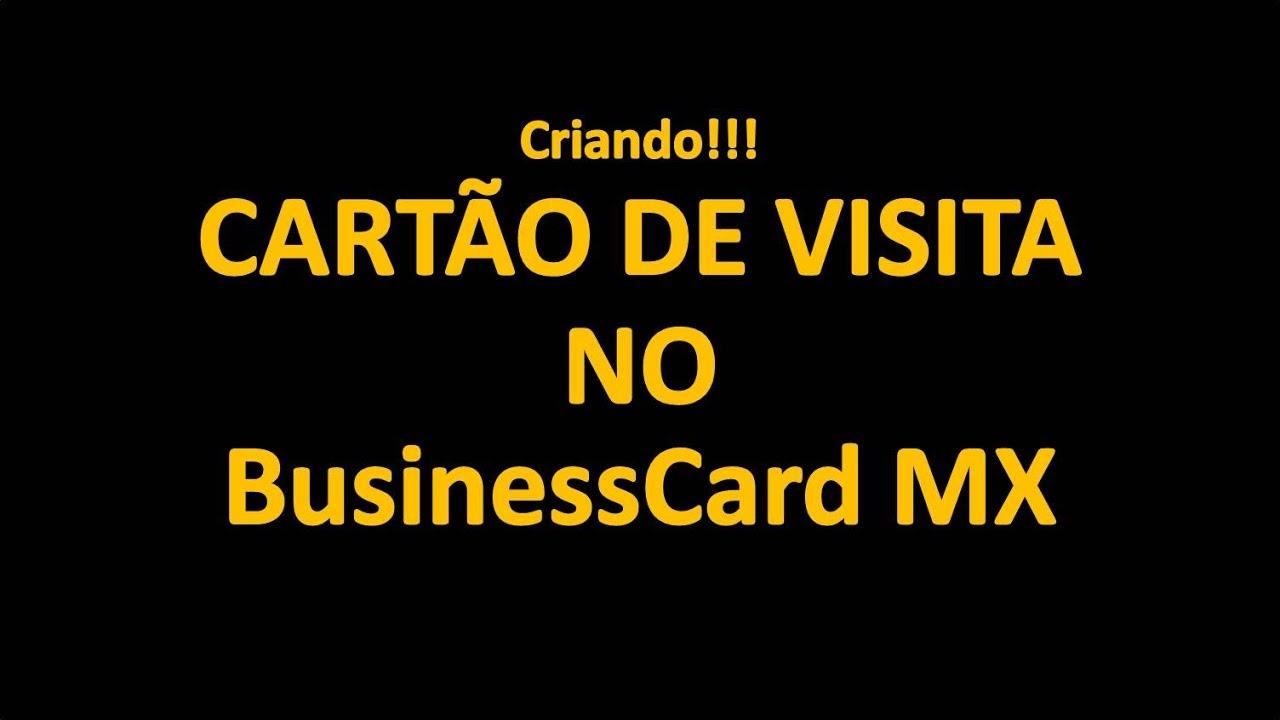 Business cards mx criando carto de visita profissional youtube business cards mx criando carto de visita profissional reheart Images