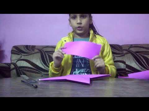 How to make paper star ll art n craft by Diya Jain