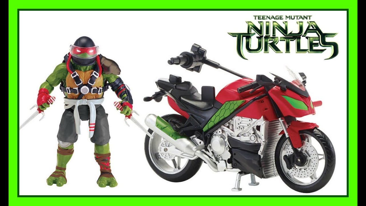 teenage mutant ninja turtles raphael ragin racer motorcycle bike