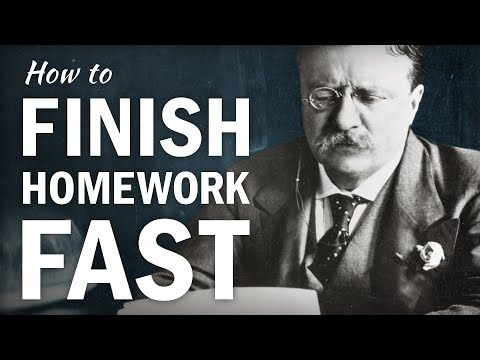 How to Finish Homework FAST