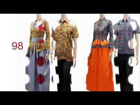 Desain Baju Dress Batik Wanita Terbaru Youtube