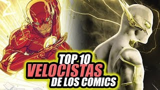 TOP 10 Velocistas Más Rápidos de The Flash (Comics).