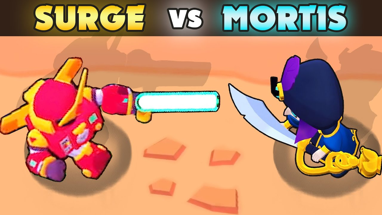 SURGE vs MORTIS | 1 vs 1 | 27 Tests | Best Brawler in Brawl Stars?