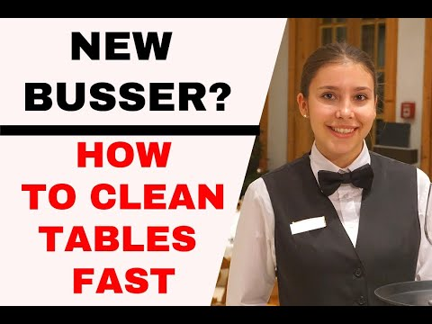 How To Bus Tables. Busser Training. Restaurant Service-waiter Training. How To Be A Good Waiter.