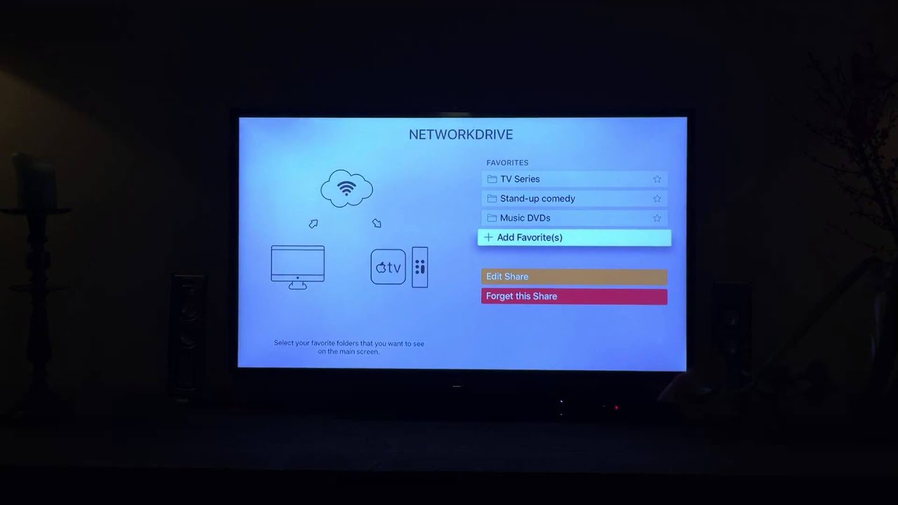 Infuse Pro 4 on Apple TV 4 - setup favorites