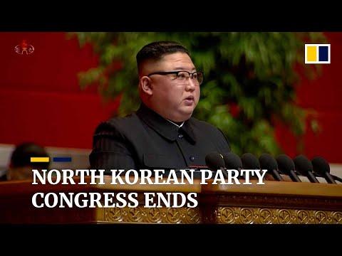 North Korean leader Kim Jong-un vows to strengthen nuclear arsenal as party congress closes