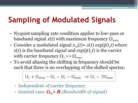 Digital Signal Processing Ch7: Sampling (Arabic Narration)