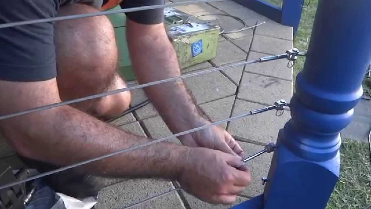 How To Crimp A Stainless Steel Balustrade Wire - YouTube