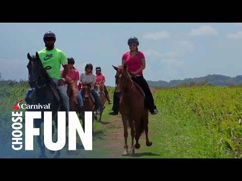 Horseback Riding at La Hacienda in San Juan, Puerto Rico (with audio description)