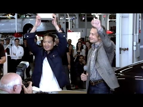 Elon Musk delivers Model S to first customers 2012