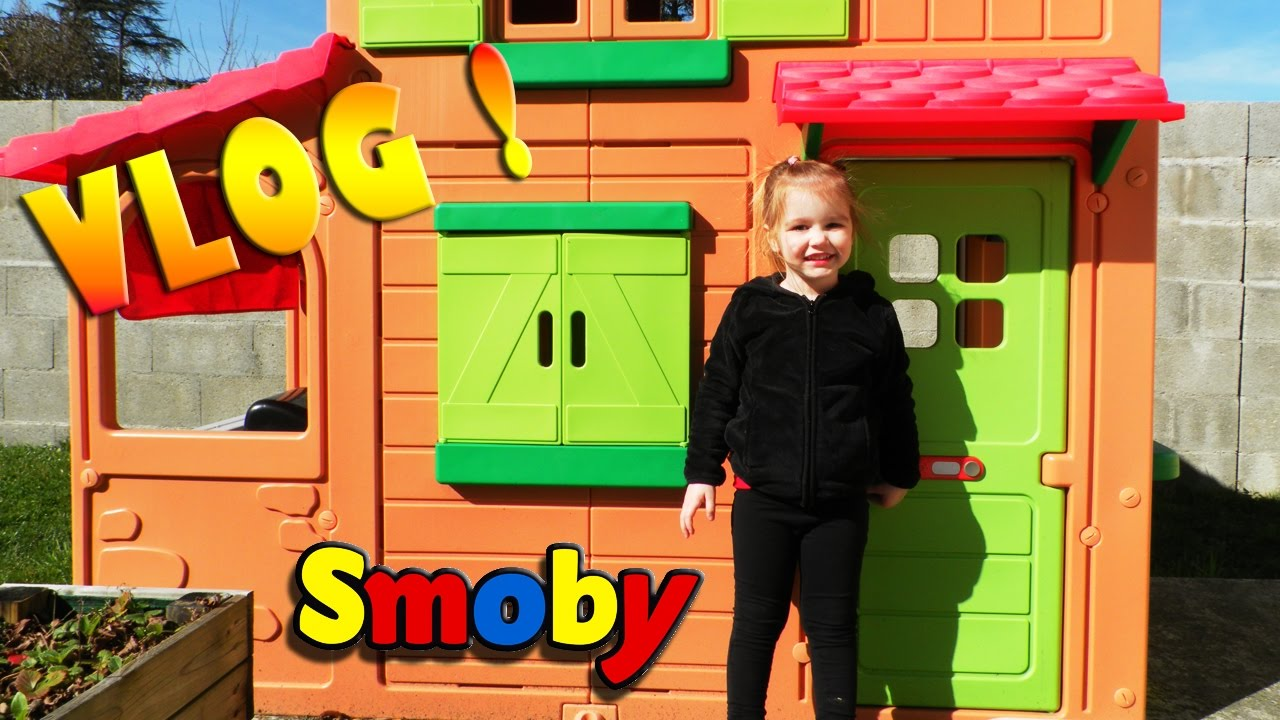 cabane d 39 ext rieur maison duplex smoby pour enfant. Black Bedroom Furniture Sets. Home Design Ideas