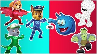 Paw Patrol Transforms Into PJ Masks - Paw Patrol Cartoon Save Mickey Mouse Clubhouse