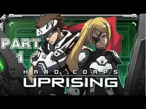 Hard Corps: Uprising - Rising Mode - Bahamut and Sayuri [HD] Co-op Playthrough part 1(Xbox 360)