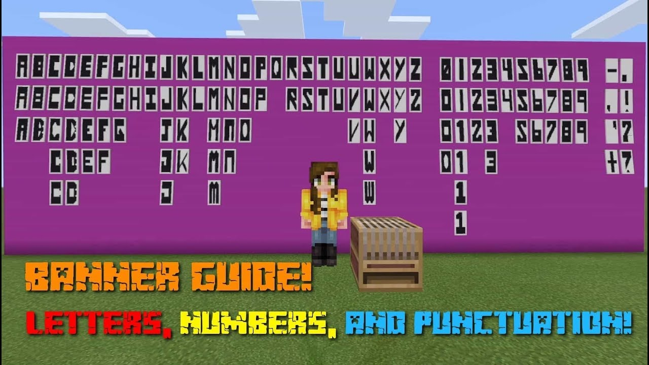How To Make The Alphabet On The Loom Minecraft Youtube