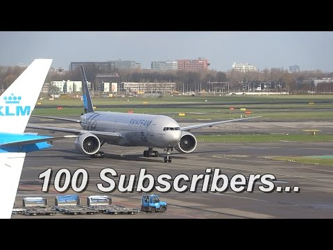 *100 Subscriber Special* Schiphol a Planespotters Heaven, Thank You!!