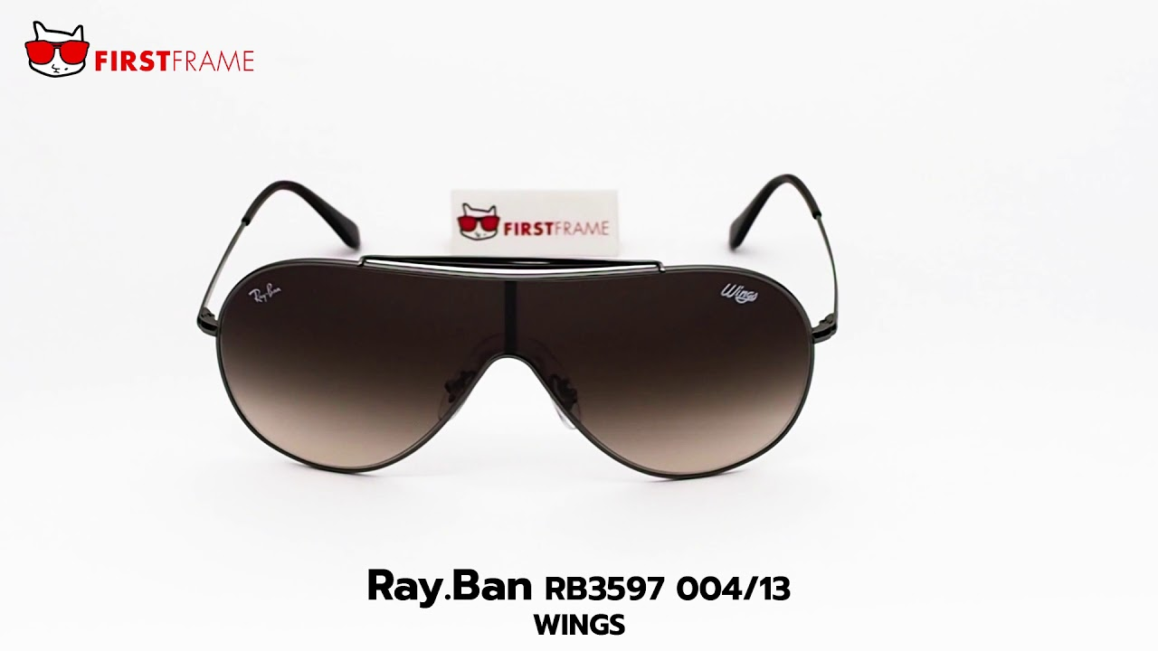 2fd13faf42 RayBan RB3597 004 13 WINGS - YouTube