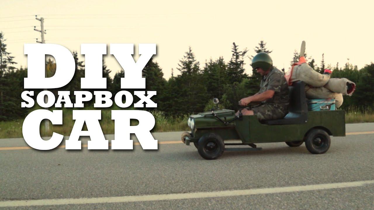 DIY Soapbox Car - YouTube on storage box houses, cereal box houses, soap stone houses, salt box houses,