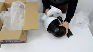 IP Speed Dome PTZ Camera with IR 300 Meters, 30X Zoom & Auto Tracking