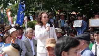6/5 湯川れい子さん(作詞家・音楽評論家) 国会前スピーチ (明日を決...