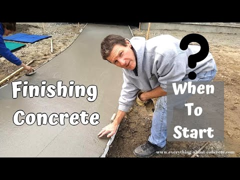 When To Start Finishing Concrete After The Pour