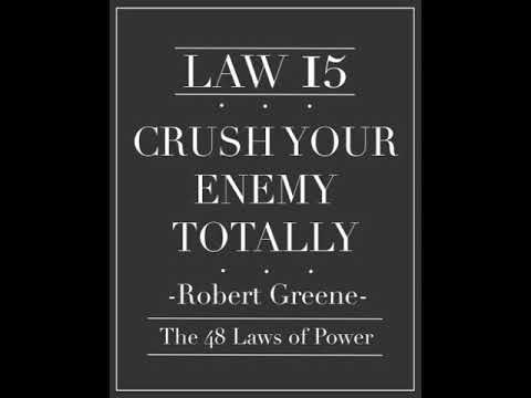 Why You Can't Leave A Crack For The Narcissist To Return...Law Number 15 Crush Your Enemy...