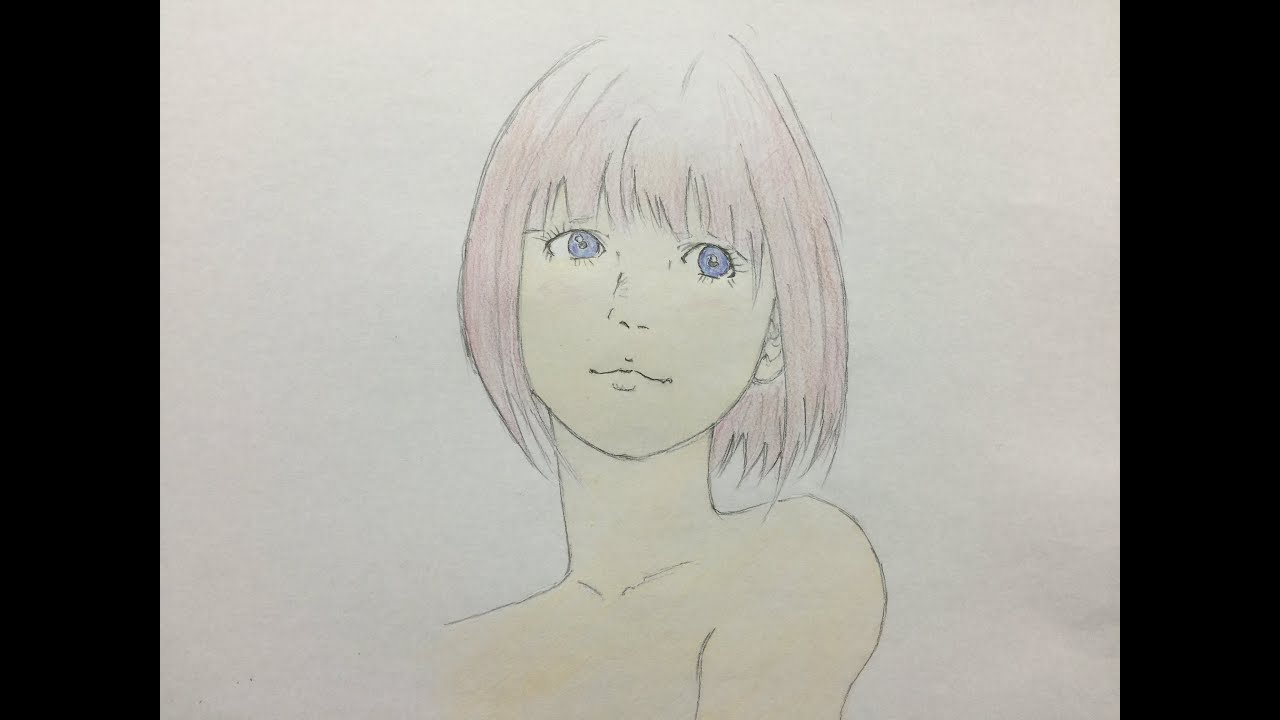 How To Draw Cute Girl Japanese Manga Colored Pencil Part3