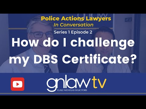 In conversation: Ep 2 How do I challenge my DBS Certificate?