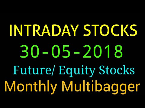 Day trading stocks 30-05-2018  Best stocks with huge potential for intraday